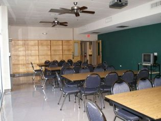 Classroom of St. Dominic Aquinas school after renovations by interior designer Pascal Architects in New Orleans, LA